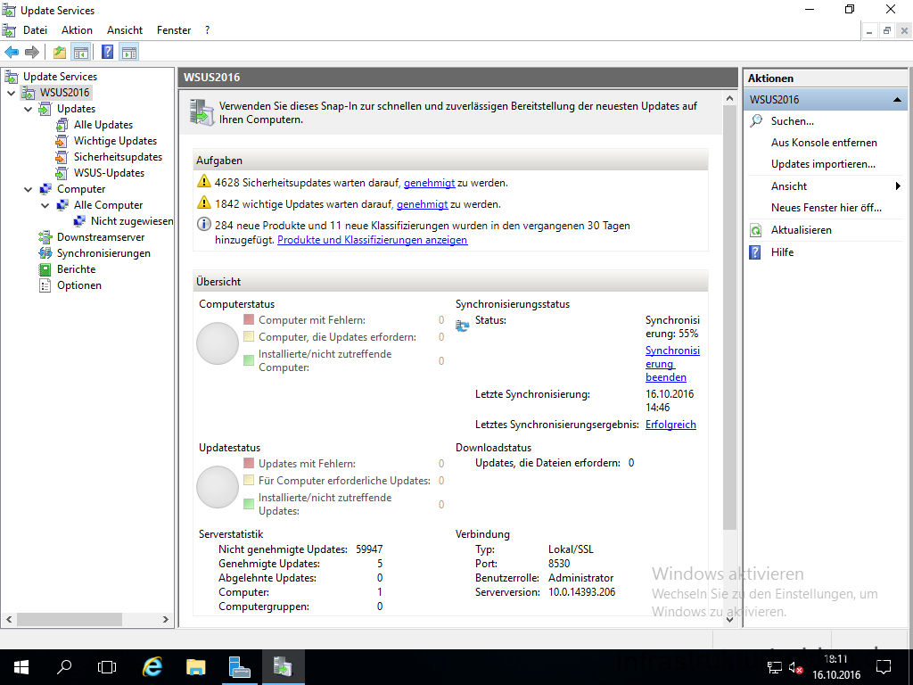 WSUS auf Windows Server 2016 – First Look