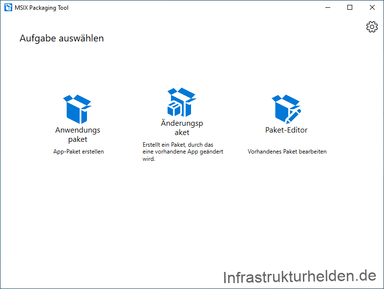 Screenshot: MSIX Packaging Tool