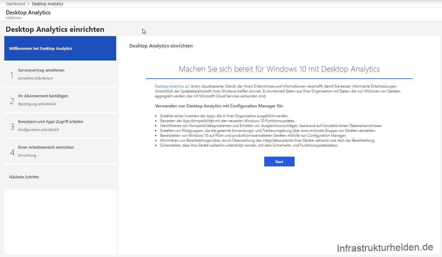 Neues zu Windows Analytics: Upgrade Readiness / Desktop Analytics