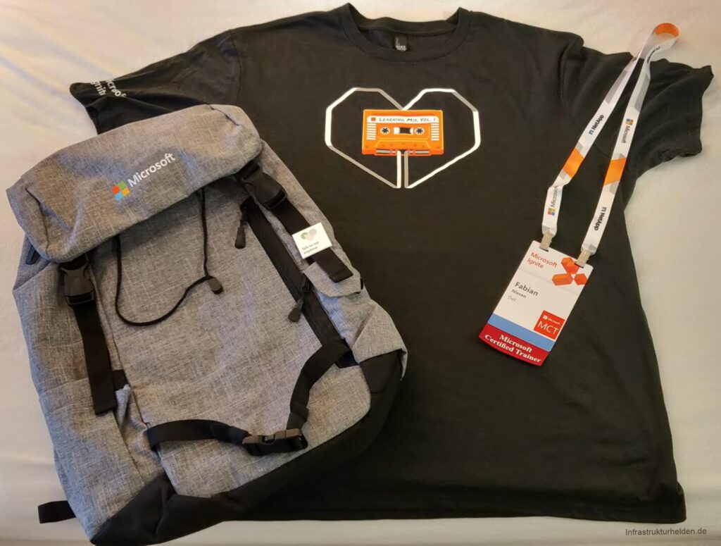 "Ignite Stuff: Badge, Backpack and T-Shirt ""Learning Mix Vol.1"""