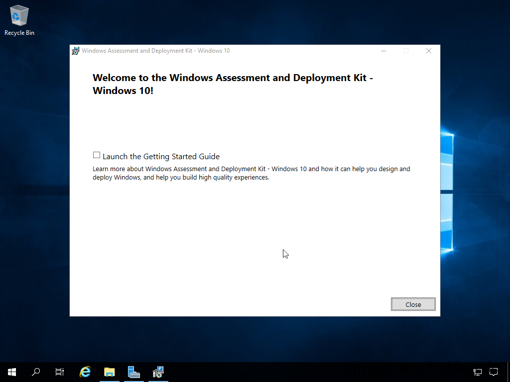 Install Windows Assessment and Deployment Kit -