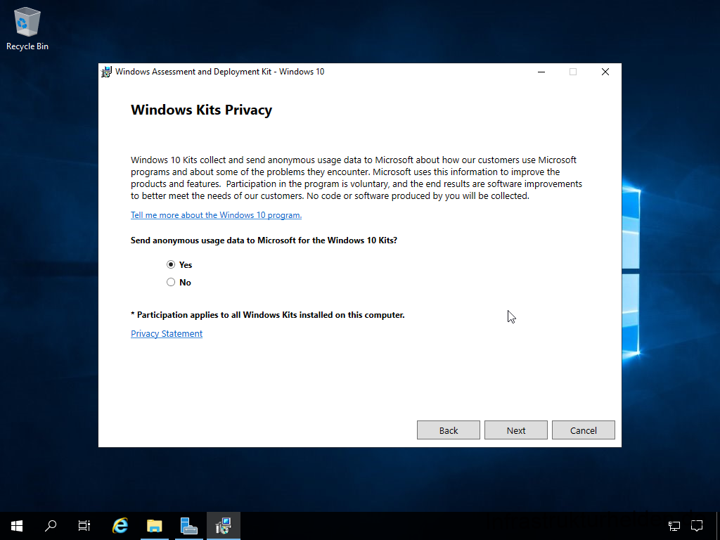 Install Windows Assessment and Deployment Kit - Windows Kits Privacy