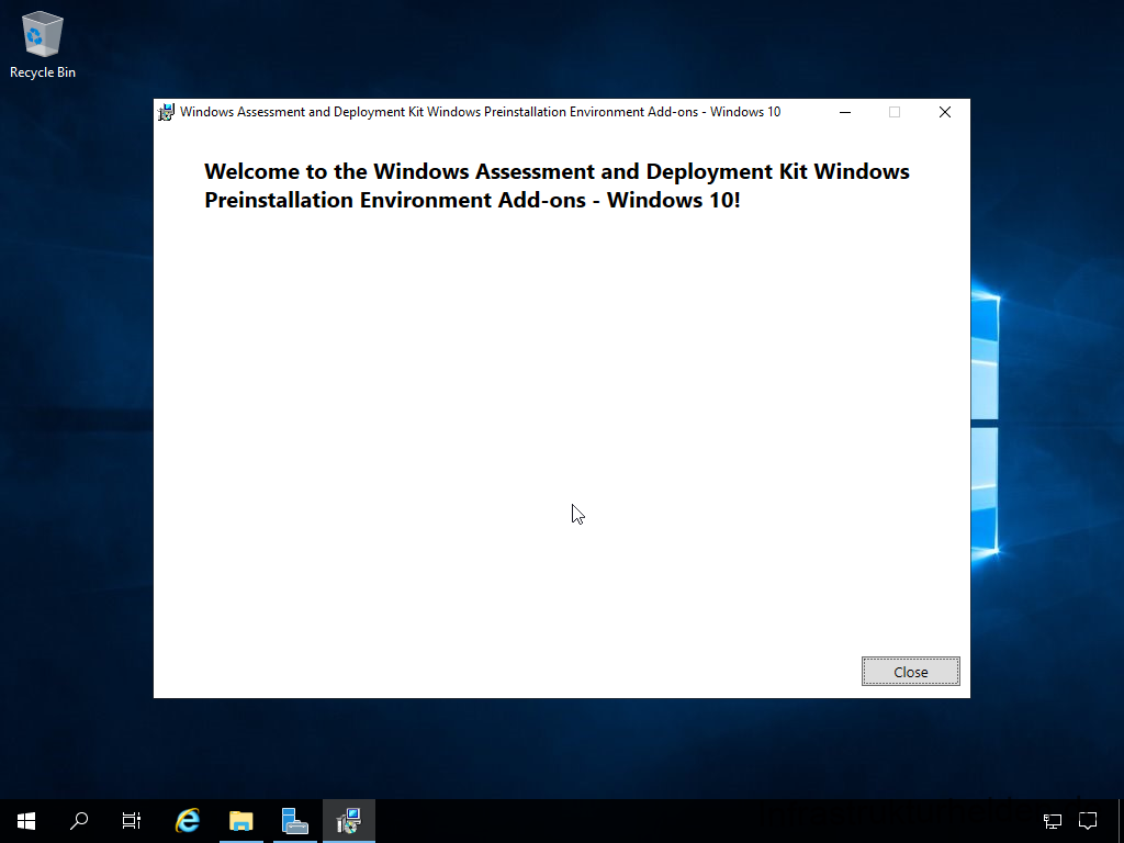 Install Windows Assessment and Deployment Kit - Windows Preinstallation Environment